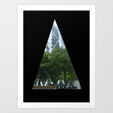 Triangled Vision Art Print