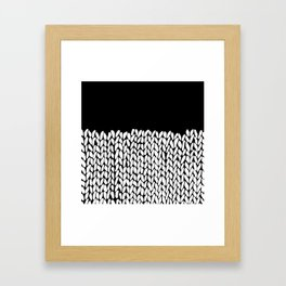 Half Knit Framed Art Print