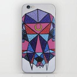 """Geometric Cat Skull"" iPhone Skin"