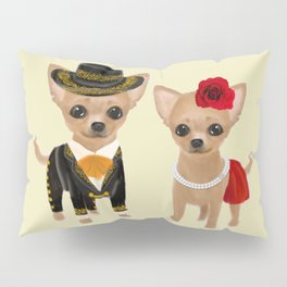 chihuahua couple mariachi Pillow Sham