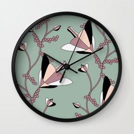 Climbing Flower Vines Wall Clock