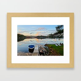 Another Day on the Lake Framed Art Print