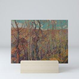 Canadian Landscape Oil Painting Franklin Carmichael Art Nouveau Post-Impressionism Silvery Tangle Mini Art Print