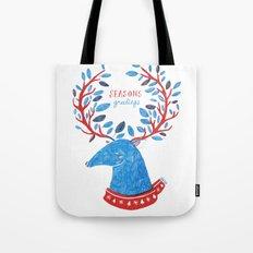 Reindeer Seasons Greetings Tote Bag
