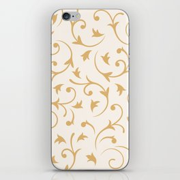 Baroque Design – Gold on Cream iPhone Skin