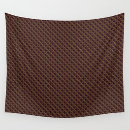 Diamond 3D Multicolour on Red Wall Tapestry