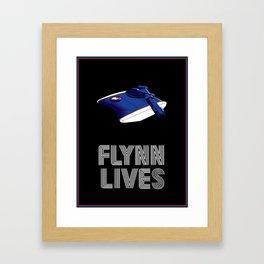 Flynn Lives Tank Framed Art Print