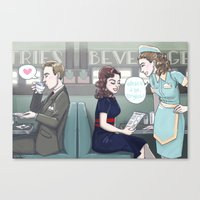 agent carter Canvas Prints featuring Agent Carter by enerjax