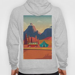 WILD CAMPING AUTUMN LANDSCAPE Hoody