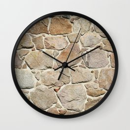 old quarry stone wall Wall Clock