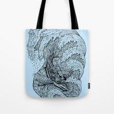 i only surf on SHARKS! Tote Bag
