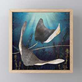 Metallic Stingray Framed Mini Art Print