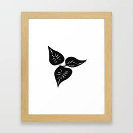 Three Leaves Framed Art Print