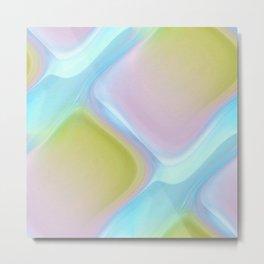 Pastel pattern blue river Metal Print