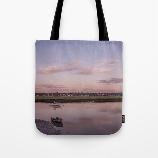 Pier at Golden hour Tote Bag