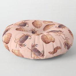 scallop Crab pattern design coral Floor Pillow