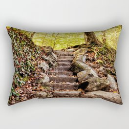 Rock Stairway Cades Cove Tennessee by Alli Gunter Photography Rectangular Pillow
