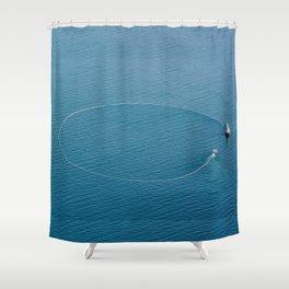 Salmon Seiner Shower Curtain