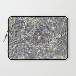 Mexico city map engraving Laptop Sleeve