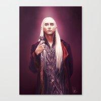 thranduil Canvas Prints featuring Thranduil by tillieke