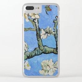 Flowering almond branches oil painting Clear iPhone Case