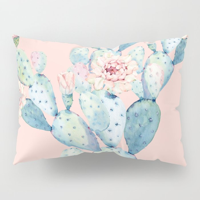 Rose Desert Cactus on Pink by Nature Magick Pillow Sham