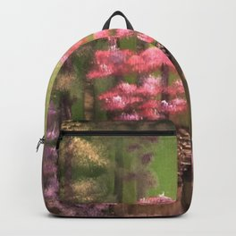 Enchanted cabin in the woods Backpack