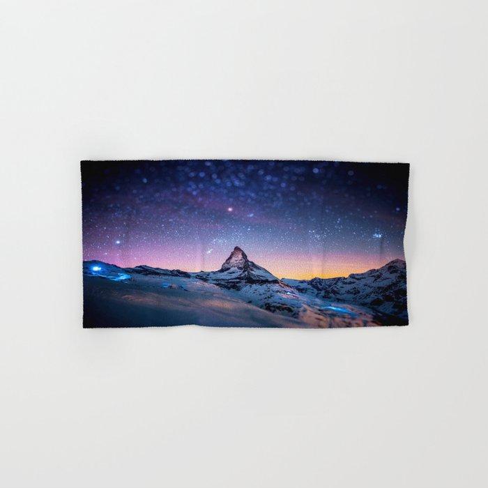 Mountain Reach the Galaxy Hand & Bath Towel