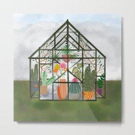 Peaceful Greenhouse Metal Print