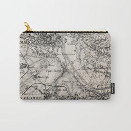 Vintage Paris old retro map Carry-All Pouch