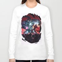 magneto Long Sleeve T-shirts featuring Magneto vs Megatron by Larrydraws