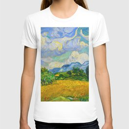Wheat Field with Cypresses Vincent van Gogh Oil on canvas 1889 T-shirt