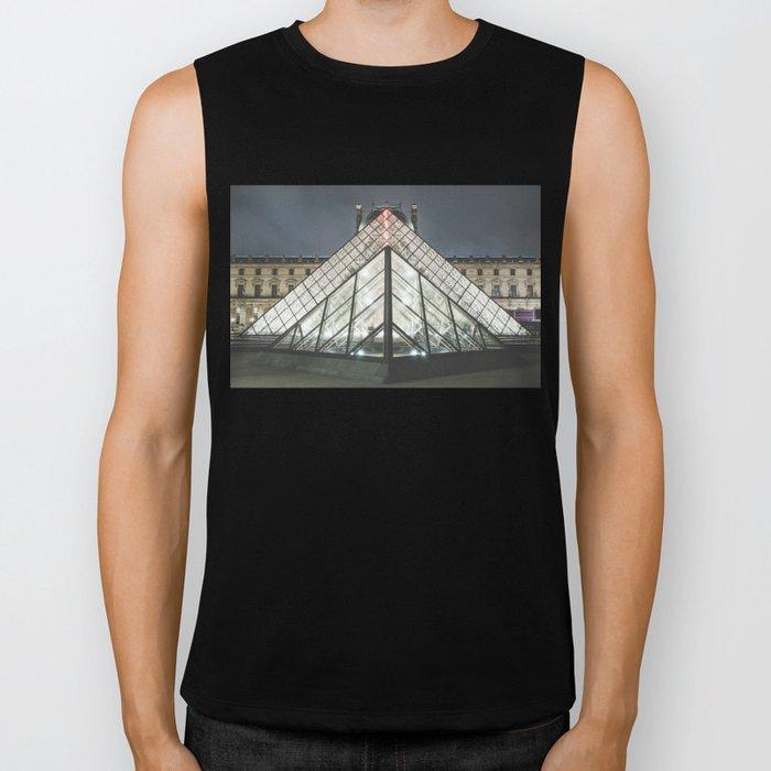 Paris pyramide Louvre 2 Biker Tank