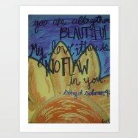 No Flaws Art Print