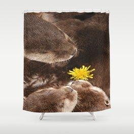 Otterly Cute Flower Power Shower Curtain