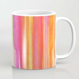 Neon Rainbow Paint Streaks Coffee Mug
