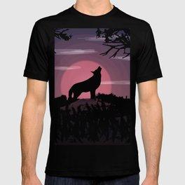Wolf full moon T-shirt