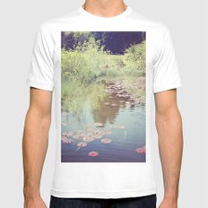 Lillypads Mens Fitted Tee White MEDIUM
