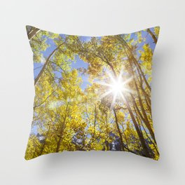 Aspens in Colorado Throw Pillow