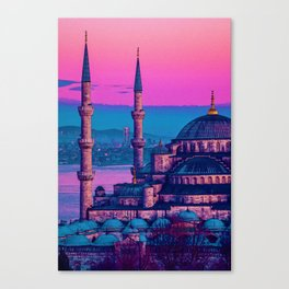Sultanahmet, Istanbul Turkey in watercolor Canvas Print