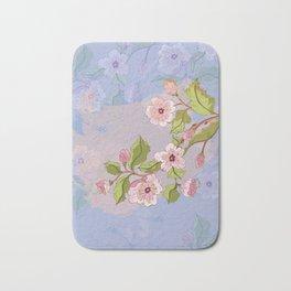 Colored Sketch of Sakura Branch Bath Mat