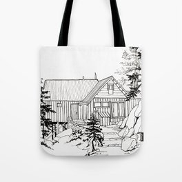 MOFFITT CABIN, Travel Sketch by Frank-Joseph Tote Bag