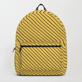 Primrose Yellow and Black Stripe Backpack