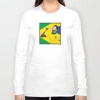 neymar Long Sleeve T-shirts featuring Neymar Brasil 2 by lockerroom51