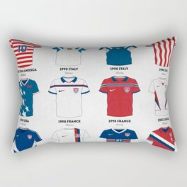 The Evolution of the Us World Cup Soccer Jersey Rectangular Pillow