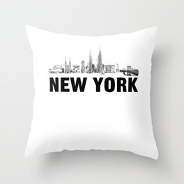 New York Skyline Throw Pillow