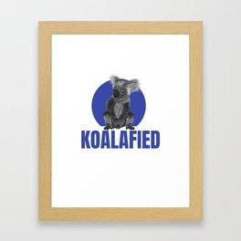 Highly Koalafied Teacher graphic Funny design Framed Art Print