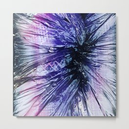Geode Centered Metal Print