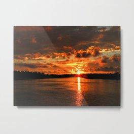 Newport Back Bay Sunset Metal Print