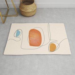 Abstract Line Art II Rug